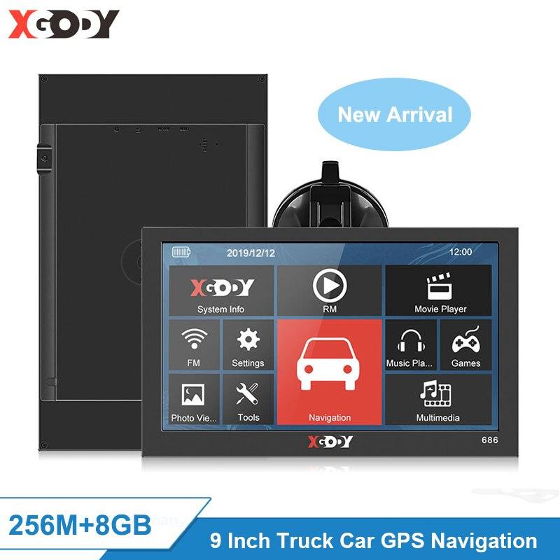 XGODY 9 ''Navigation Lkw Auto Gps Navigator 256M + 8G Bluetooth Rück Kamera Tf Karte Option Freies karte Russland Navitel Europa AU