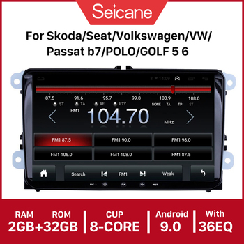 Seicane Car Multimedia Player Android 10.0 API 29 4-core CAR GPSRadio For Skoda/Seat/Volkswagen/VW/Passat b7/POLO/GOLF 5 6 image