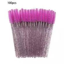 100 шт Кристалл стержень одноразовые щеточки с тушью для ресниц