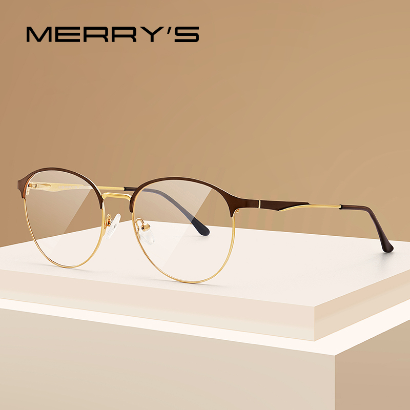 MERRYS DESIGN Women Oval Glasses Frame Ladies Fashion Round Trending Eyewear Myopia Prescription Optical Eyeglasses S2024