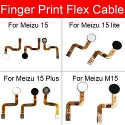 Przycisk Home Flex kabel taśmowy do Meizu 15 Lite Plus przycisk Home Flex Cable brak identyfikator dotykowy naprawa linii papilarnych części zamienne