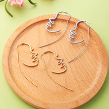 2019 Human Face Earrings Personalized Fashion Gold Silver Color Alloy Dangle Women