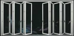 Hench de madera de China puertas, ventanas de aluminio bi-puertas plegables de fábrica al por mayor hc-a12
