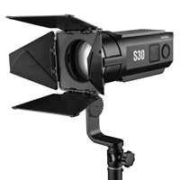 Foco Godox S30 30W foco LED fotografía continuo luz ajustable con puerta de granero para estudio fotográfico profesional