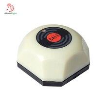 Высокое качество водонепроницаемый беспроводной Ресторан белая кнопка вызова, догадка вызова официанта системы, со съемным водонепроницаемым основанием