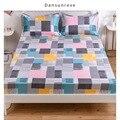 Распродажа Dansunreve 14 видов конструкций простыней на кровать с геометрическим принтом простыня на резинке Смешанный хлопок наматрасник один ...