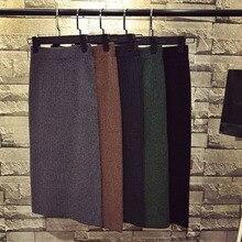 Skirt knit faldas mujer moda 2019 long skirts womens split jupe femme