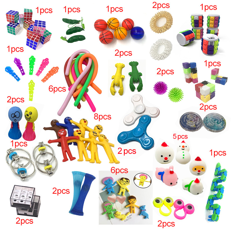 Kids Toys Fidget Wholesale 50pieces Styles-Toy-Set Funny Combination Extrusive-Solving