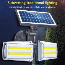 20 Вт 42LED/80COB двусторонний солнечный светильник IP65 водонепроницаемый настенный светильник радиолокационный СВЧ индукционный светильник roatable наружный садовый светильник