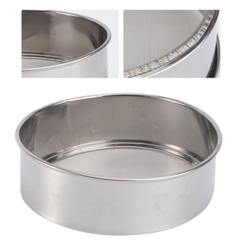 Kuchnia z drobnymi oczkami sito do mąki stal nierdzewna srebrna siatka sito do przesiewania mąki przesiewanie sitko pieczenie ciasta cukier puder filtr siateczkowy tanie i dobre opinie CN (pochodzenie)