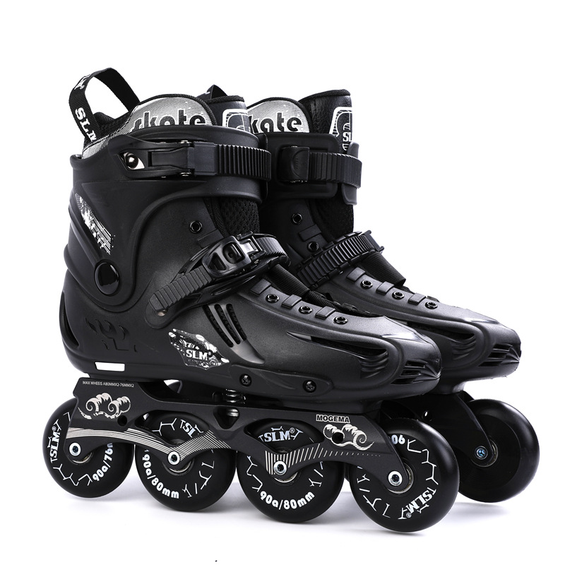 Inline Skates Professional Slalom Adult Roller Skating Shoes Sliding Free Skate Patins Size 35-46 Good As Sneakers Wheels Shoes