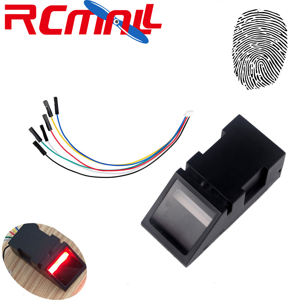 RCmall Optical Fingerprint Reader Sensor Module For Arduino Mega2560 UNO R3 51 AVR STM32 Red Light O40 DC 3.8-7V FZ2904