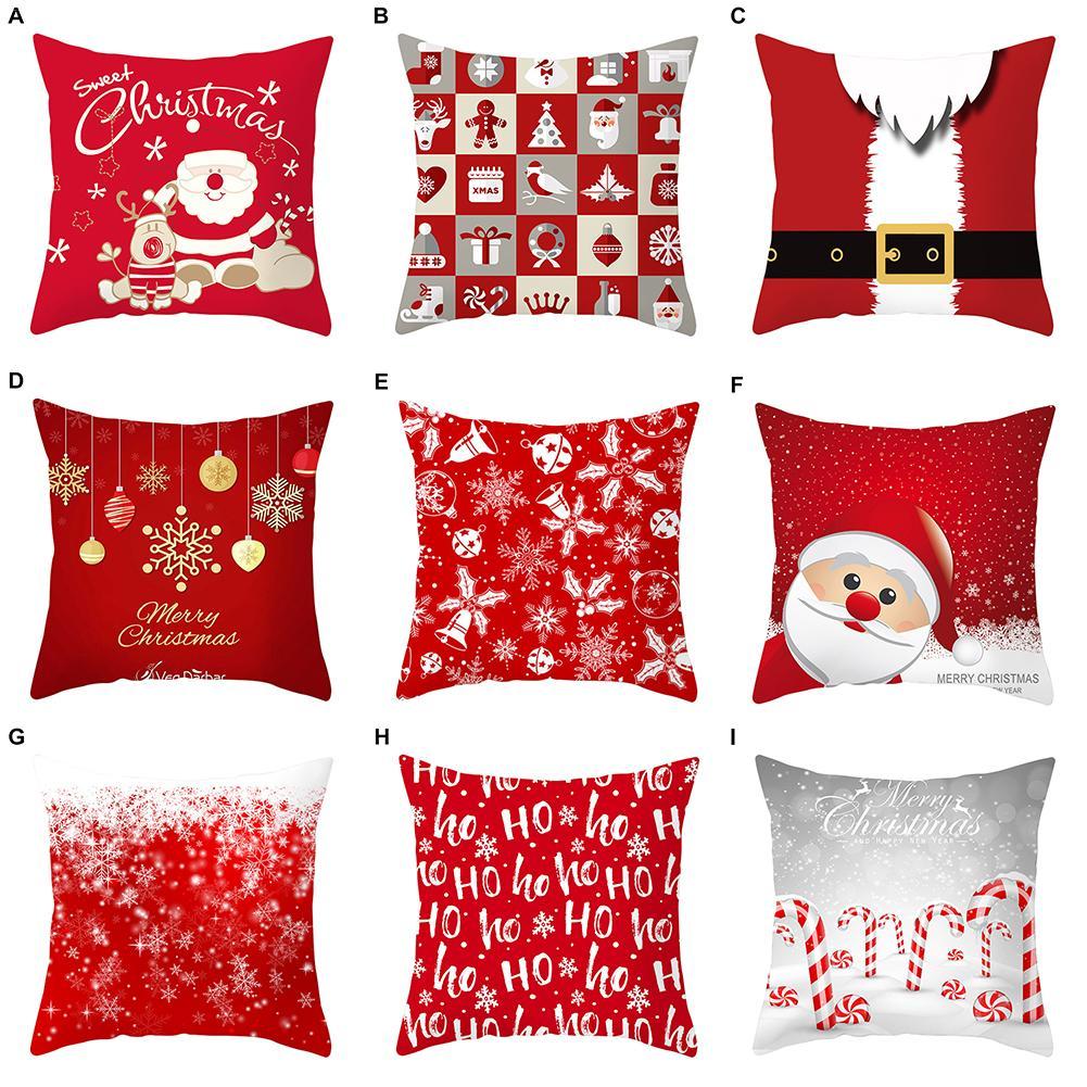 Christmas Santa Claus Cushion Cover Decorative Pillowcase for Sofa Seat Pillow Case Sofa Cushion Cover 2020 New Year Home Decor|Cushion Cover|   - AliExpress