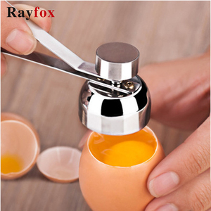 Kitchen Accessories Gadgets Stainless Steel Egg Topper Cutter Metal Egg Scissors Boiled Raw Egg Opener Creative Kitchen Tool Set(China)