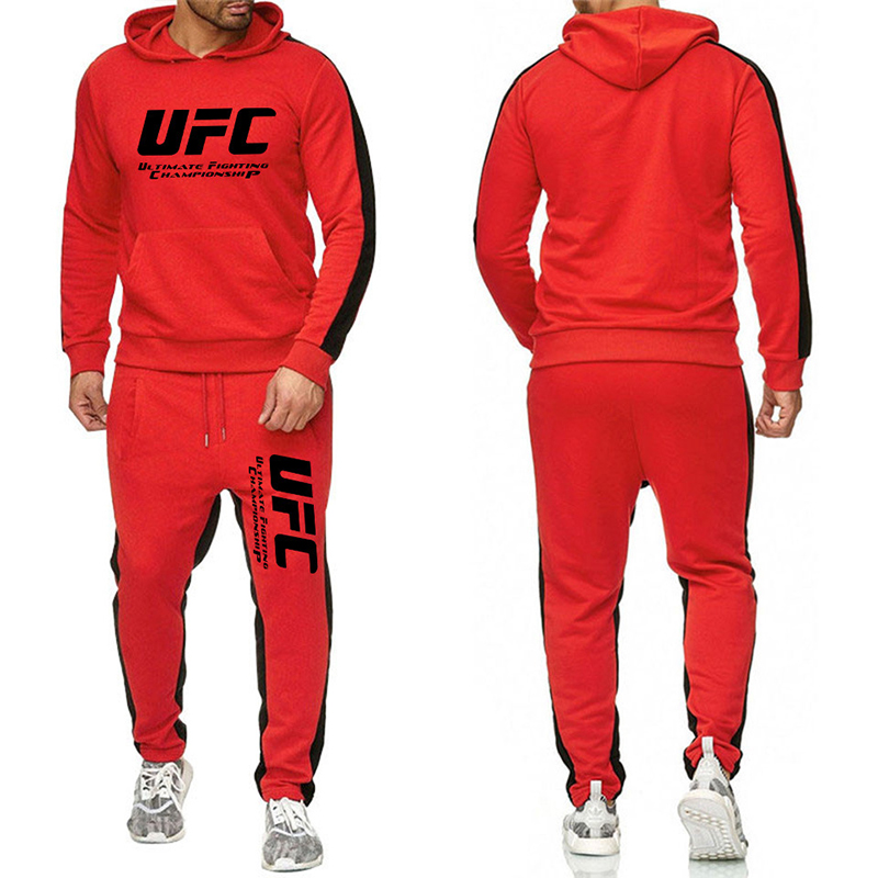 UFC Sweatshirts Sets European Code Ultimate Fighting Letter Print Sweater amp Sports Pants Two piece Sports Casual Track Suit Men in Men 39 s Sets from Men 39 s Clothing
