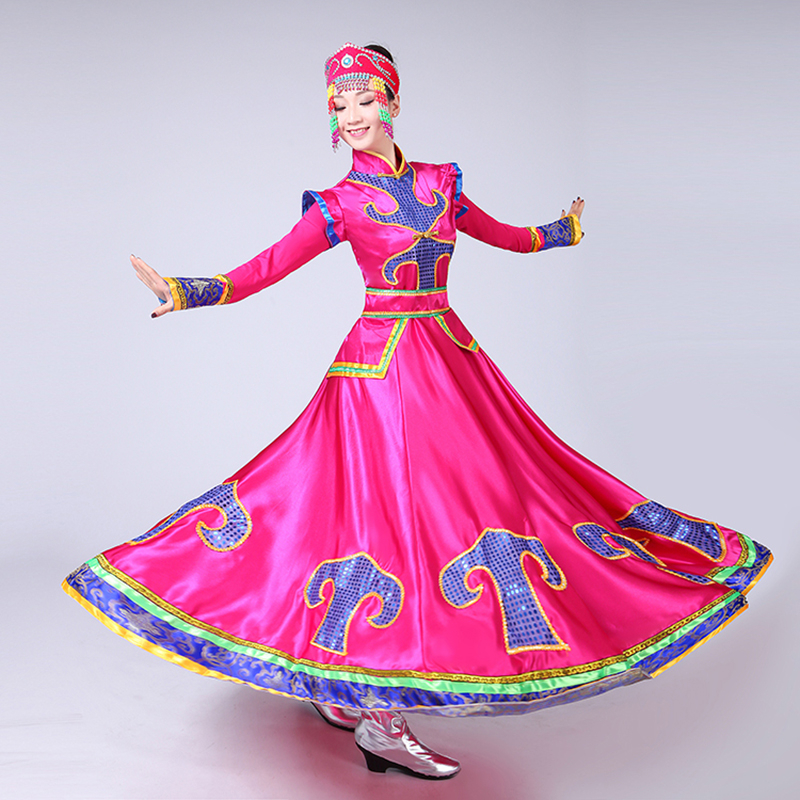 Songyuexia Women Dance Costume Xinjiang National Performance Costume Uygur Stage Clothes Costumes Dress Female Nation Dancewear
