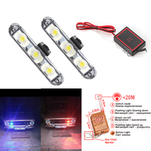 Car Strobe Warning police lights Waterproof DC 12V Wireless Remote 2x3 LED Ambulance Police light controll flasher Emergency