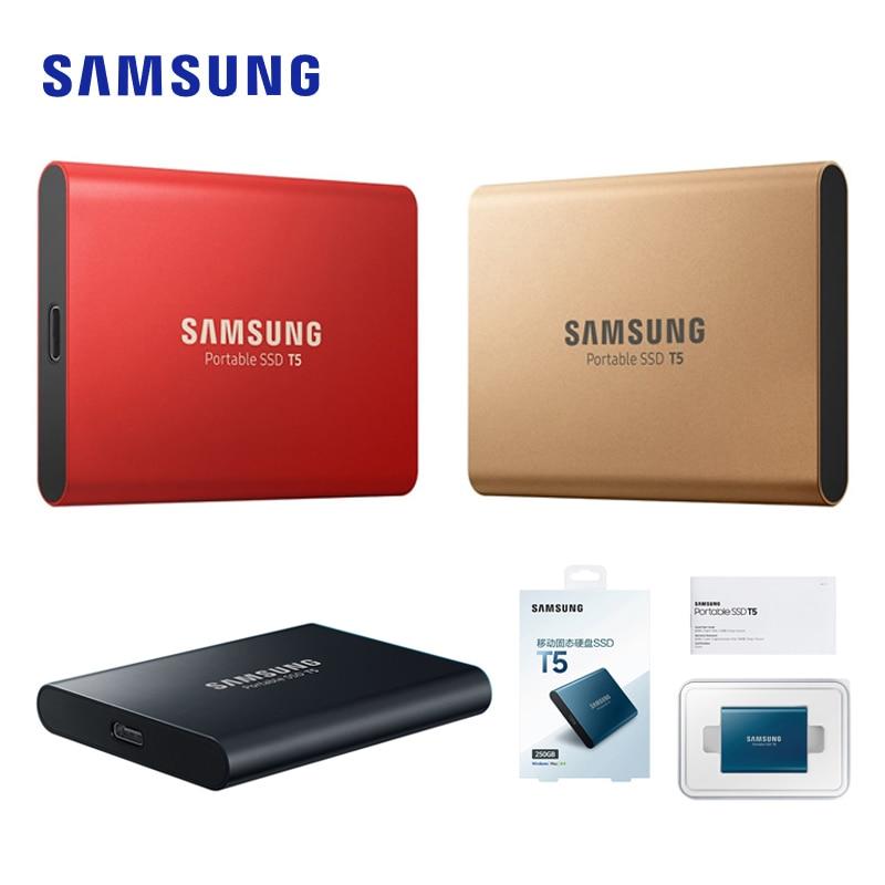 SAMSUNG External Portable SSD T5 USB3.1 250GB 500GB 1TB Hard Drive External Solid State Drives HDD For Desktop Laptop