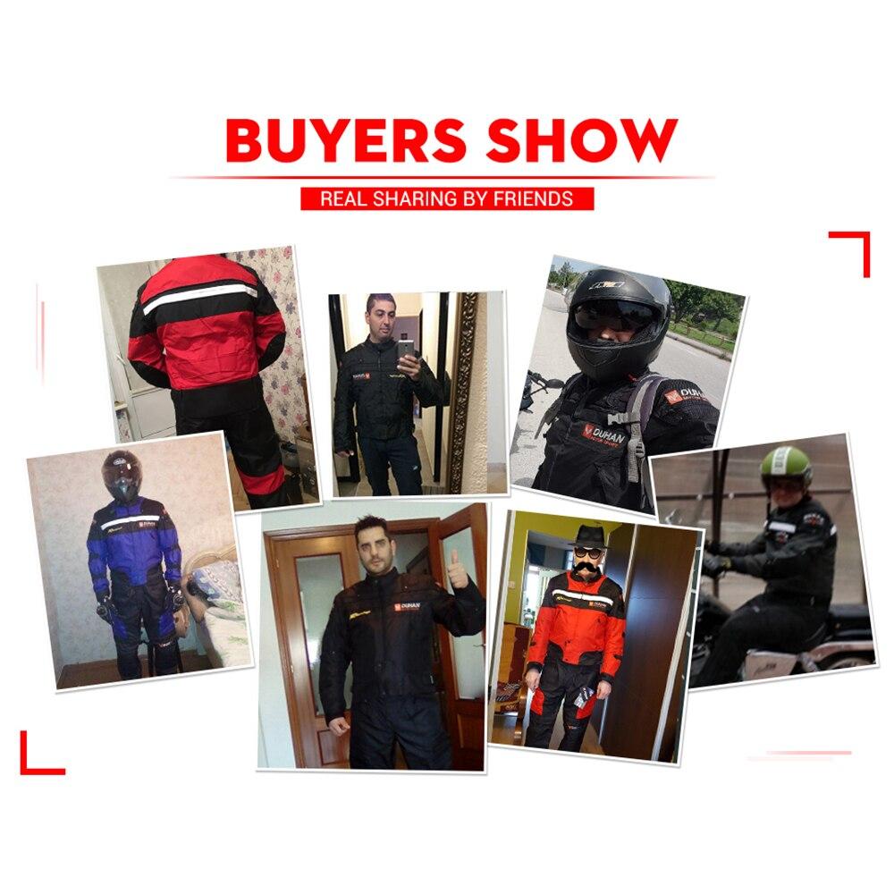 DUHAN coupe-vent Moto course costume équipement de protection armure Moto veste + Moto pantalon Hip protecteur Moto vêtements ensemble - 5