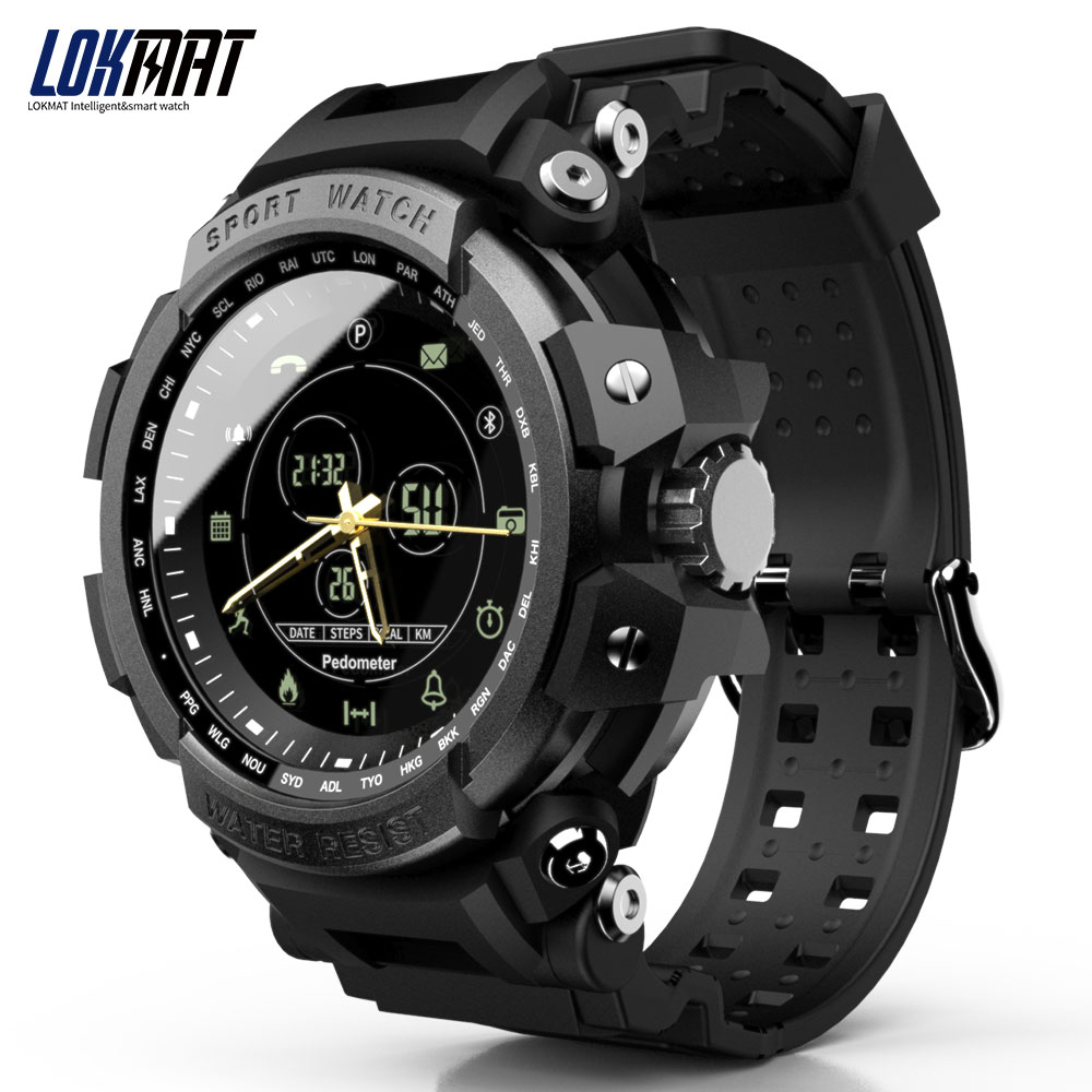 LOKMAT SmartWatch Sport Pedometer Bluetooth 50M Waterproof  Information Reminder Digital Men Smart Watch For Ios And Android|Smart Watches|   - AliExpress