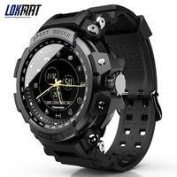 Lokmat smartwatch esporte pedômetro bluetooth 50 m lembrete de informações à prova dwaterproof água digital relógio inteligente para ios e android|Relógios inteligentes| |  -