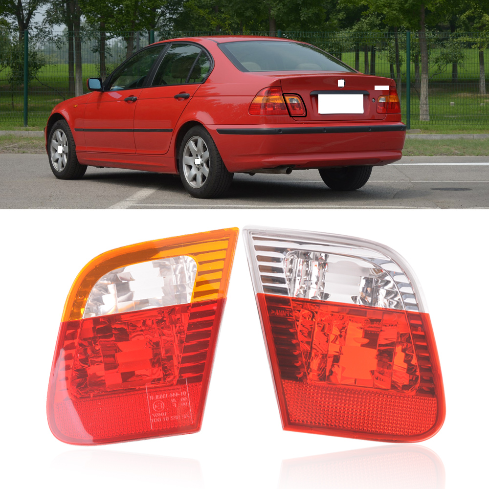 BMW 3 SERIES E46 SEDAN SALOON 98-01 LED REAR BACK TAIL LIGHTS LAMPS RED CLEAR