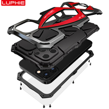 For iPhone 12 Pro Max 12Mini Case,LUPHIE Metal Armor Rosdster Phone Case 360°All Round Coverage Protection Cool Travelling Cover