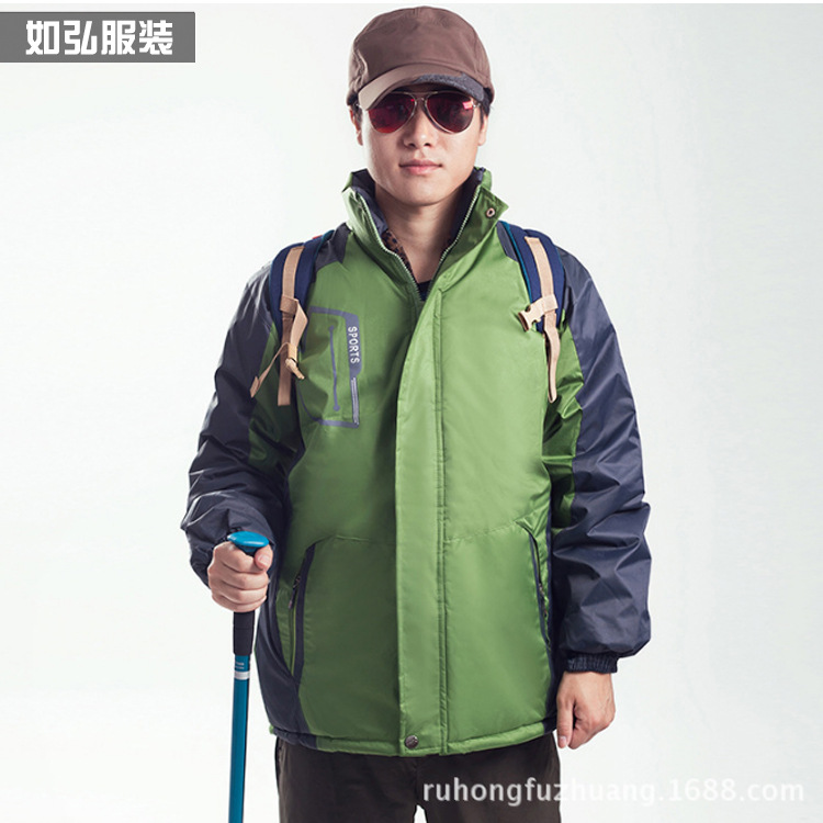 Fabricants en gros hiver vêtements de plein air imperméable veste brossé et épais imperméable escalade coton manteau hommes Cu