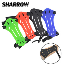 Archery Soft Rubber Arm Guard Youth Arm Protector Children Hunting Protection With Adjustable Shooting Bow And Arrow Accessories mayitr black 4 adjustable straps archery arm guard shooting bow string arm protector gear for hunting training protection