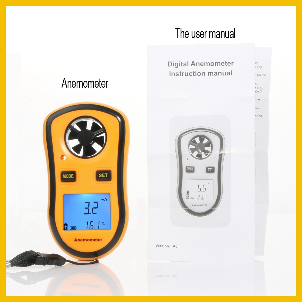 Portable RZ GM816 Wind Speed Meter Used as Anemometer with LCD Display Useful for Windsurfing 27