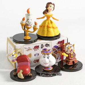Image 2 - WCF personnages classiques Vol.4 la Belle et la bête Belle Mini figurines à collectionner en PVC jouets 5 pièces/ensemble