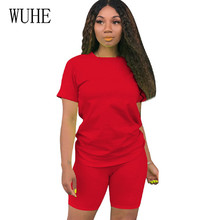 WUHE Summer Short Sleeve Casual Two Pieces Sets Jumpsuit Women O Neck Hollow Out Playsuits Femme Yellow Crop Top and Shorts Set wuhe women fashion o neck short sleeve long swing top and slim pants summer casual two pieces sets playsuits combinaison femme