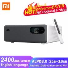 Origianl Xiaomi Mijia Laser Projektor 2400 ANSI Lumen 1920*1080P Full HD 3D Projektor Heimkino Beamer Android wifi MIU TV