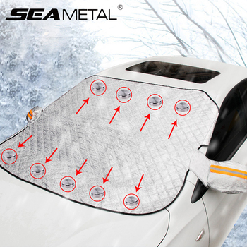 Car Snow Cover Car Cover Windshield Sunshade Outdoor Waterproof Anti Ice Frost Auto Protector Winter Automobiles Exterior Cover