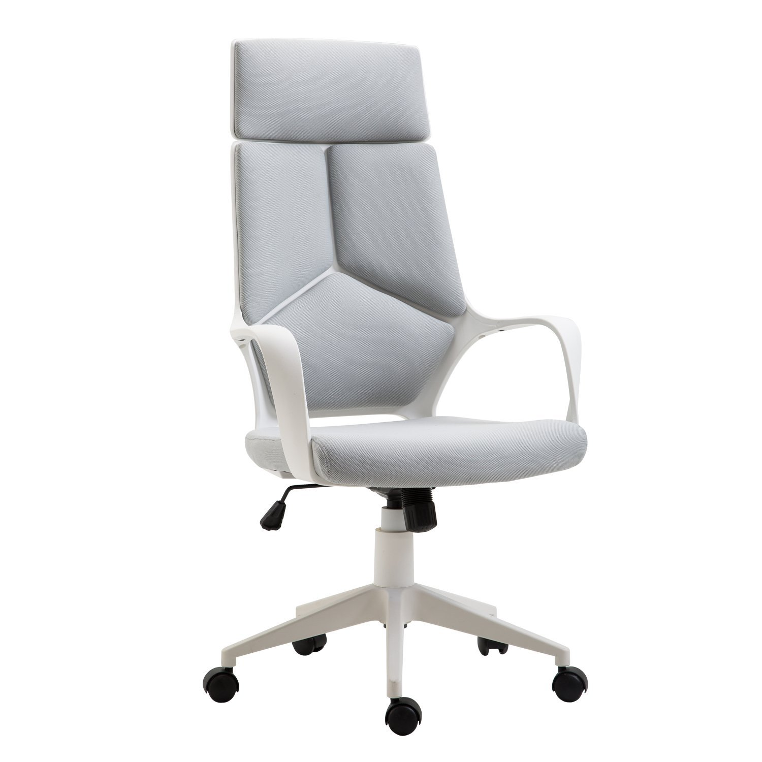 HOMCOM Presidential Adjustable And Swivel Office Chair Mesh Fabric Gray