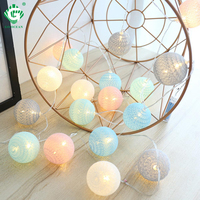 LED Cotton Balls Light String Battery 1.5M 3M Holiday Garland Wedding Indoor Christmans Lights Chain Home Decoration Lamp