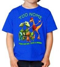 Camiseta trem de dinossauro il treno dei uri uri maglietta bambino com o nome m.c