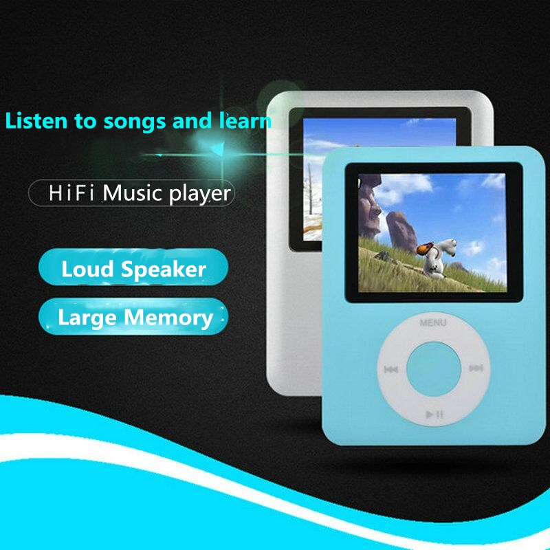 High Quality Mini MP3 Music Player High Quality Portable MP3 Radio Player Support FM Radio Video E-book With Large Memory