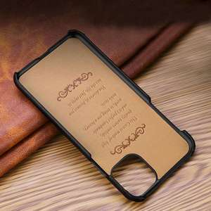 Image 4 - Genuine Leather Case For iPhone X XR XS Max 11 Pro MAX 11Pro Cover Funda Capa Matte Real Leather Case For iPhone XR XS Max Case