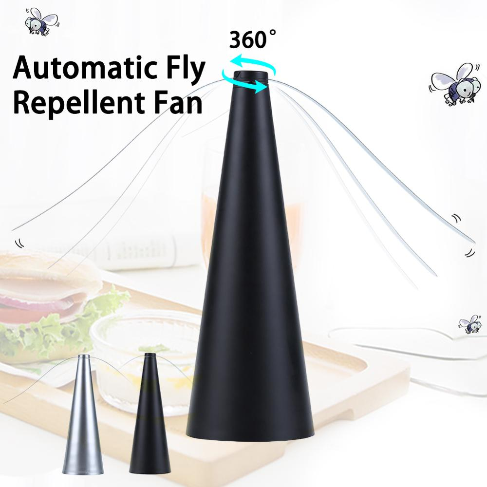 Automatic Fly Trap Repellent Fan Battery Powered Multi Functional Flies Bugs Repellent Device Keep Flies Away From Your Food