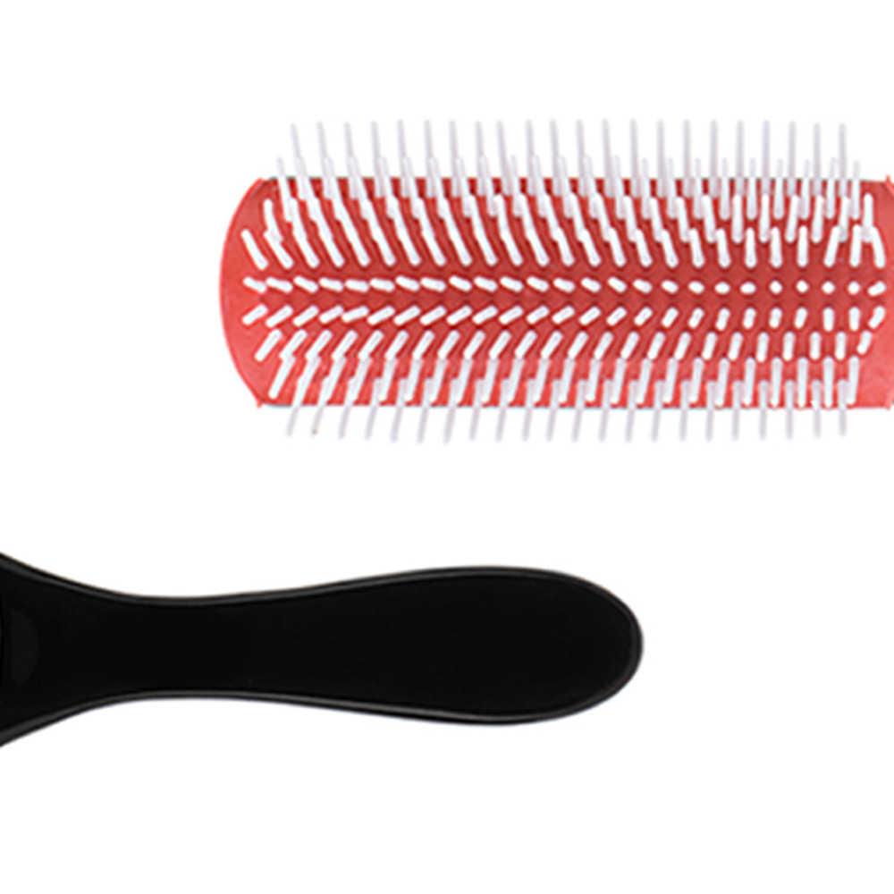 Kissen Pinsel Nylon Borsten 9-Reihe Detangle Verteilen Produkt Lockiges Haar Haar Kamm