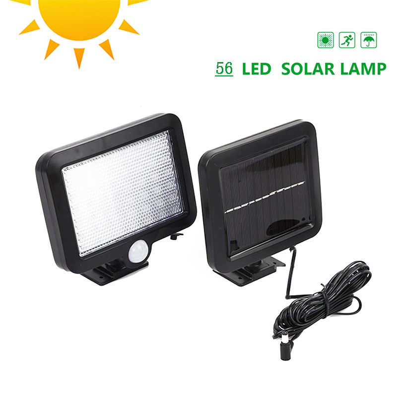 New 56 LED Pathway Solar Power Light PIR Motion Sensor Outdoor Wall Lamp Waterproof Energy Saving Outdoor Solar Security Lights