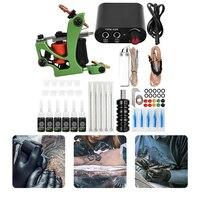 Kit completo de máquina de tatuaje, suministro de energía negra, tintas, pigmento, agujas de tatuaje, accesorios de tatuaje para principiantes