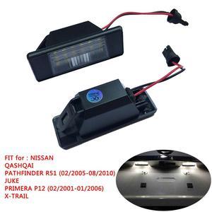 6500 K LED License Plate light for Nissan Qashqai X-trail Infiniti Q50 Car License Lamp Automobile 12 V Signal Lamp Bulb