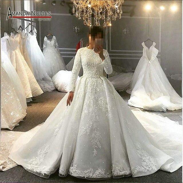 Pełna pokrywa muzułmaninem suknia ślubna suknia ślubna dla muzułmańskie dziewczyny