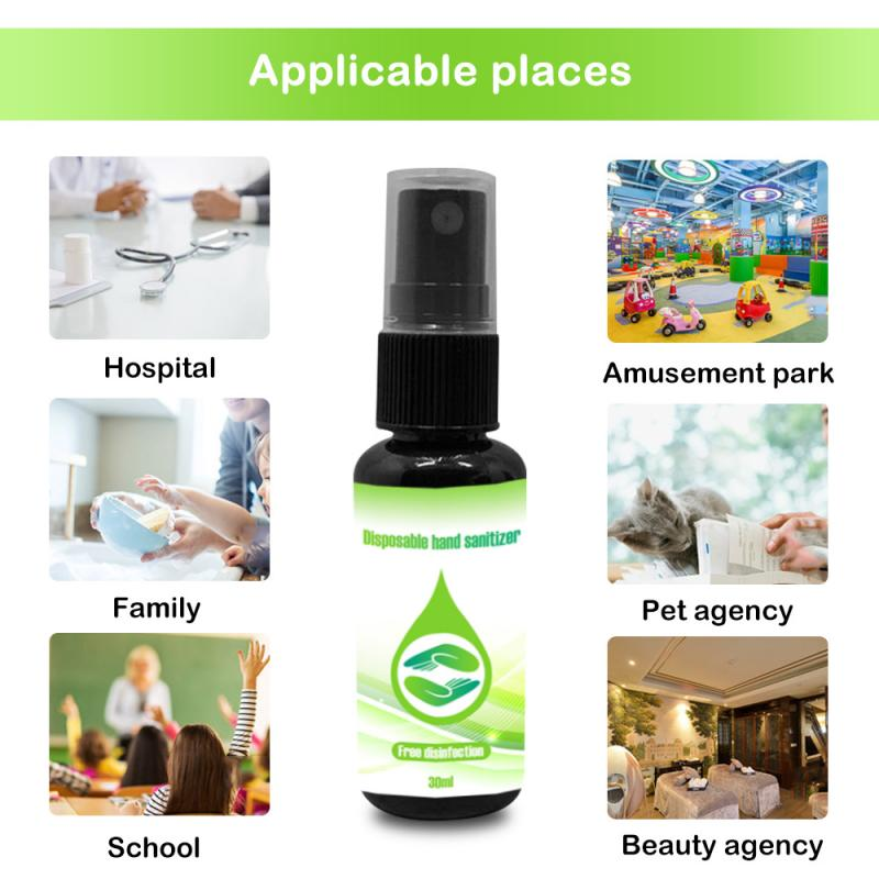 Toliet Sterilizer Portable 30ml Candy Color Mini Hand Sanitizer Anti-Bacteria Fruit-Scented Disposable No Clean Waterless