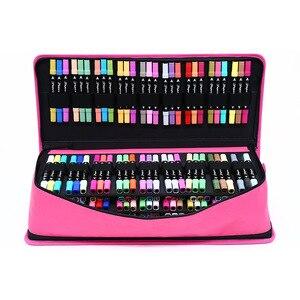 Estojo escolar para canetas de 216 orifícios, caixa profissional para arte, canetas, meninos e meninas, bolsa de ombro com alça grande kit de