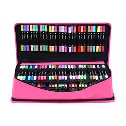 Grand 216 trous porte-crayon pour Art marqueur stylo boîte professionnelle filles garçons école crayon grande poignée pénale sac à bandoulière Kit
