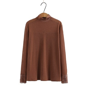 Lace Pullover Sweater Women 2021 Spring Clothes Jumper Turtleneck Soft Knitted Tops Knitwear Pull Femme Sweaters Plus Size