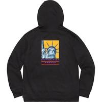 Sureme 19FW Collaboration Statue of Liberty Hoodies Men Women Hiphop Oversized Hooded Sweatshirts 100% Cotton Pullovers Men